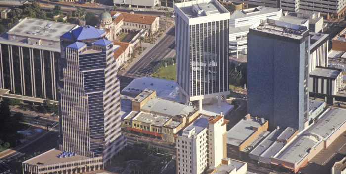 Cluster Presence: How Does Metro Tucson Compare? - aerial downtown Tucson, Arizona