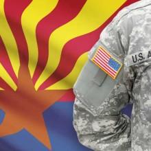 Arizona flag and veterans